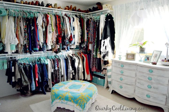 Spare bedroom turned dressing room on a budget hometalk - Turning a bedroom into a closet ideas ...