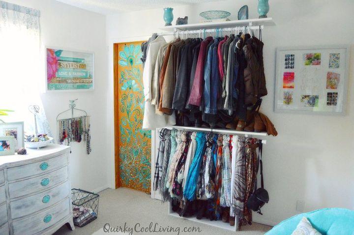 spare bedroom turned dressing room on a budget, bedroom ideas, closet, organizing