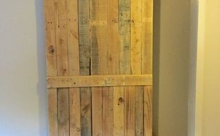 pallet sliding barn door, diy, doors, pallet, woodworking projects