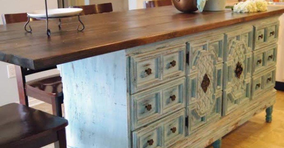 Turn Dresser Into Kitchen Island