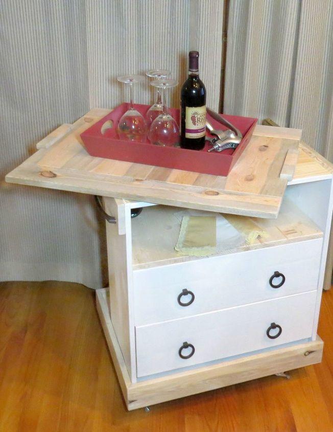 bar cart built from ikea rast diy painted furniture repurposing upcycling woodworking - Ikea Rast