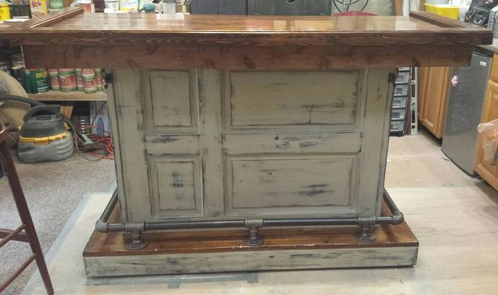 old door new life, diy, painted furniture, repurposing upcycling,  woodworking projects - Old Door, New Life Hometalk