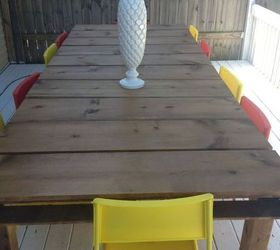 Diy Outdoor Dining Table From Wood Pallets, Diy, Outdoor Furniture, Painted  Furniture, Part 93