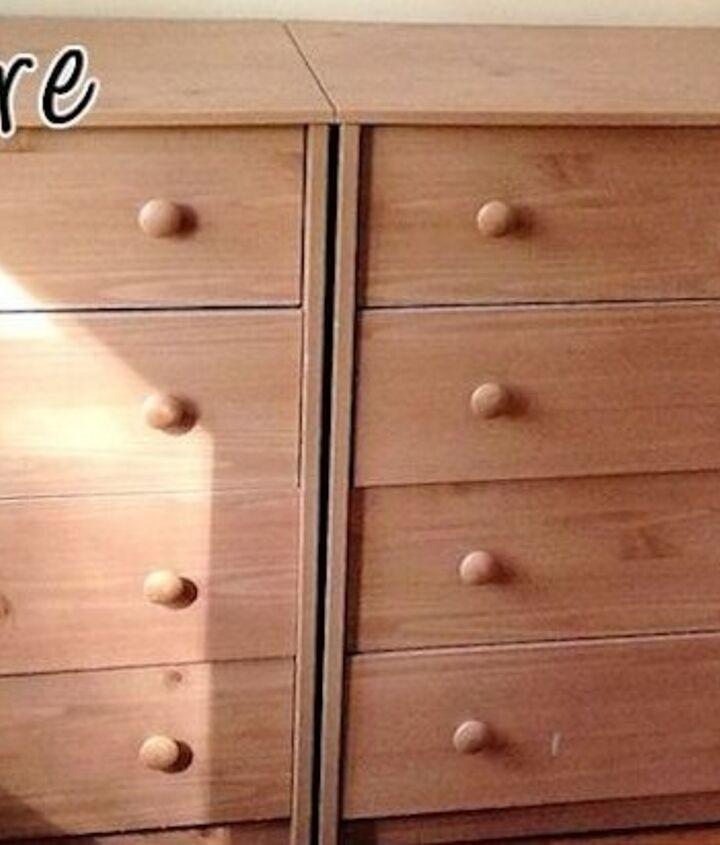 unique dresser makeover, painted furniture
