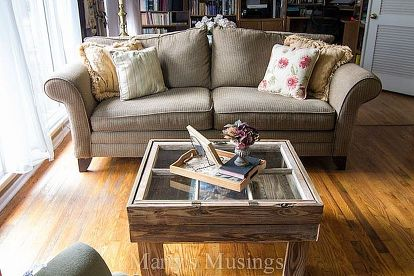How To Make A Rustic Old Window Coffee Table Diy Home Decor