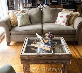 How To Make A Rustic Old Window Coffee Table, Diy, Home Decor, How