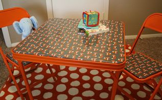 i had initially planned something else for this cute table and chairs, painted furniture