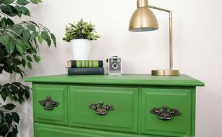 emerald green dresser makeover, painted furniture