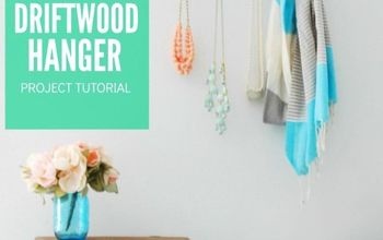 diy painted driftwood hanger, crafts, home decor, organizing, wall decor