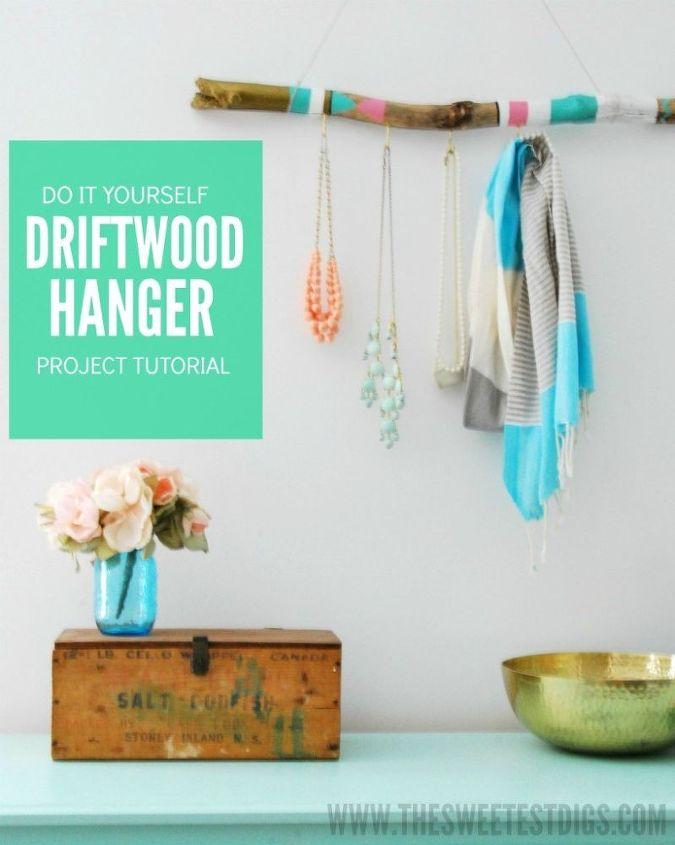 Diy painted driftwood hanger hometalk diy painted driftwood hanger crafts home decor organizing wall decor solutioingenieria Gallery