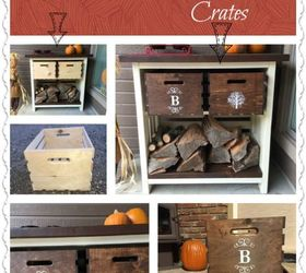 Turn Inexpensive Plain Jane Crates Into Fancy Decorative Crates, Crafts,  Repurposing Upcycling, Storage
