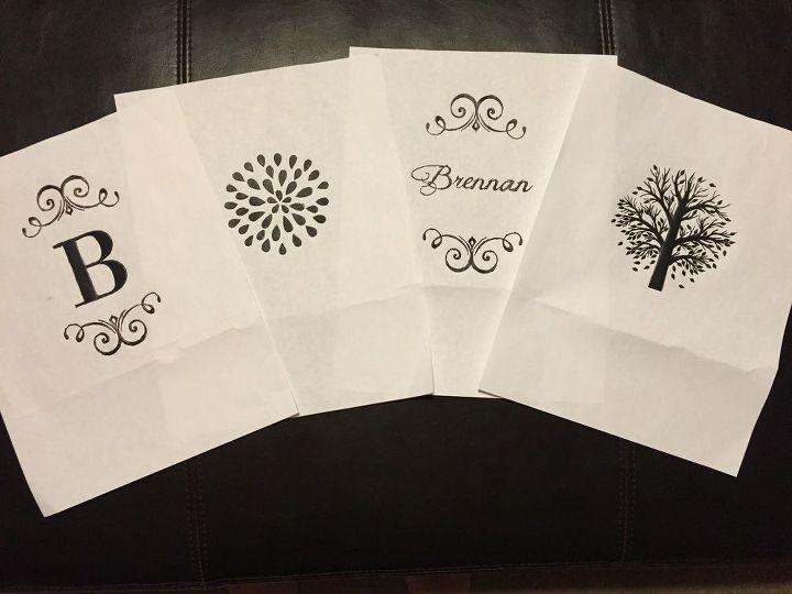 Printed designs to trace onto crates
