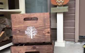 Turn Inexpensive Plain Jane Crates Into Fancy Decorative Crates!