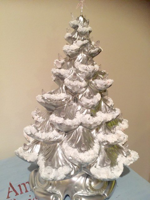 updated vintage ceramic christmas tree christmas decorations crafts - Ceramic Christmas Decorations