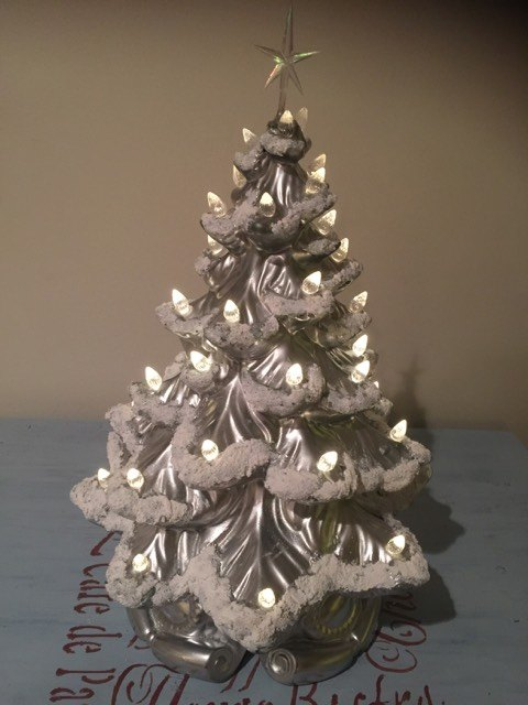 updated vintage ceramic christmas tree christmas decorations crafts - Vintage Ceramic Christmas Tree