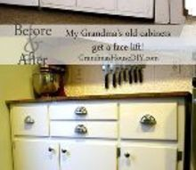 grandma s cabinets get a face lift in our kitchen, kitchen cabinets, kitchen design, painting
