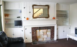 fireplace makeover with books, fireplaces mantels, living room ideas, repurposing upcycling