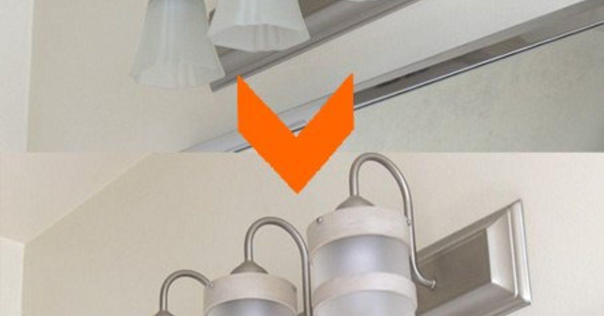 DIY Bathroom Lighting Fixture Makeover | Hometalk