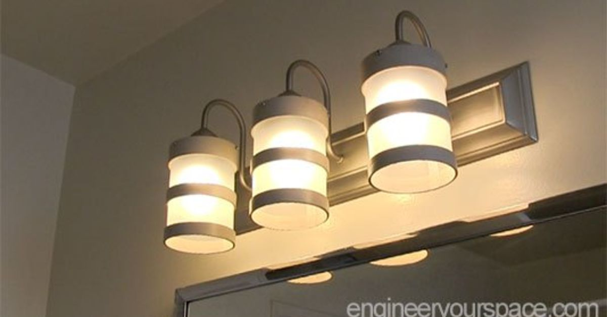 diy bathroom lighting fixture makeover hometalk 17661