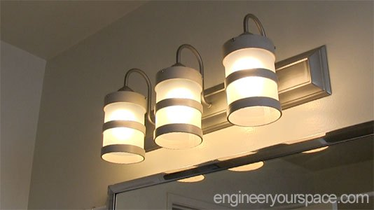 DIY Bathroom Lighting Fixture Makeover | Hometalk