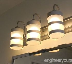 Diy Bathroom Lighting Fixture Makeover, Bathroom Ideas, Diy, Electrical,  Lighting
