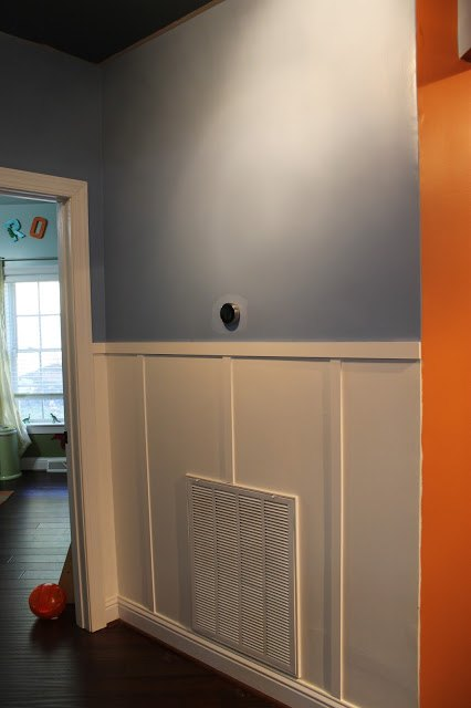 a kid s hallway for 60, chalkboard paint, foyer, painting, wall decor