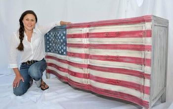 american flag dresser, painted furniture, patriotic decor ideas