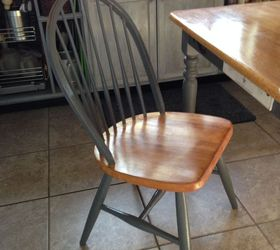 Cabin Kitchen Table Chairs Refinish, Painted Furniture, Woodworking Projects