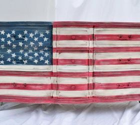 Delightful American Flag Dresser, Painted Furniture, Patriotic Decor Ideas