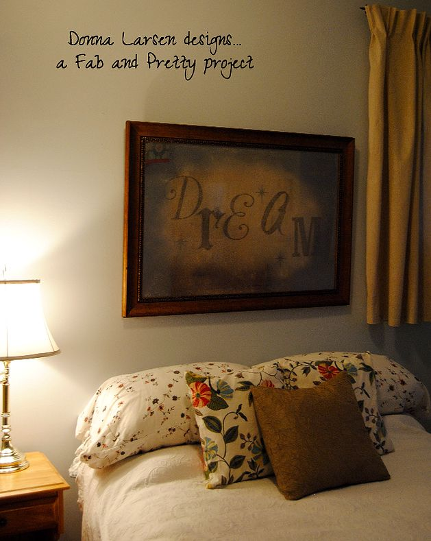 dreamy headboard alternative, bedroom ideas, crafts, wall decor, mercury glass framed wall art