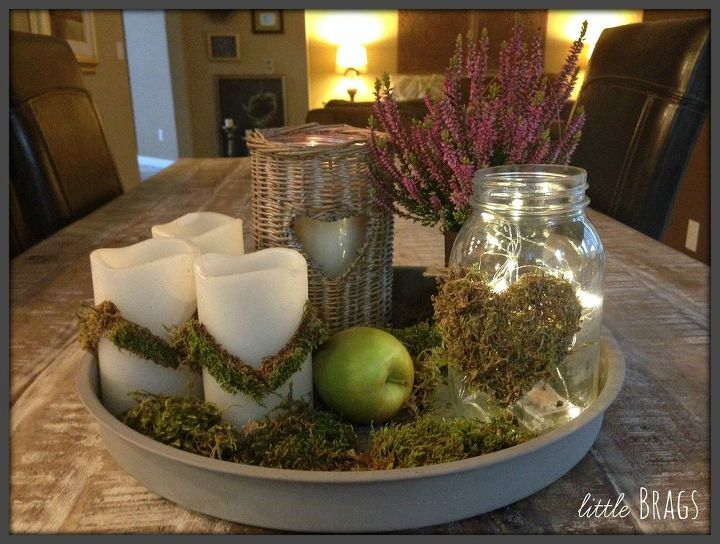 decorate with mossy tape, chalk paint, how to, mason jars, repurposing upcycling