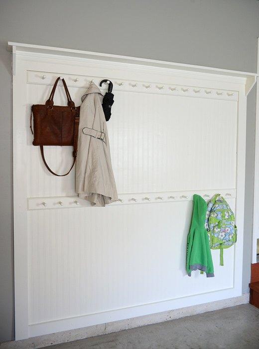 Foyer Coat Rack Ideas : Diy beadboard shaker peg coat rack hometalk