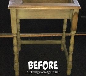 One Of A Kind Boho Printer Table, Painted Furniture