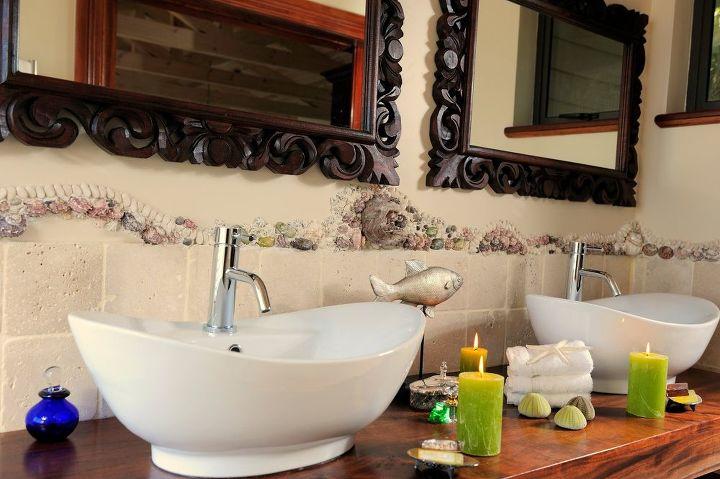 Shells and Pebbles Brighten up a Bathroom | Hometalk