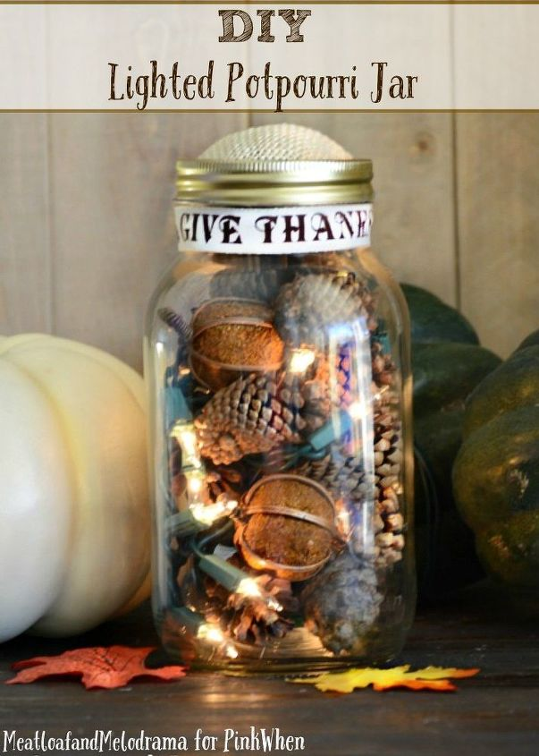 lighted potpourri jar, crafts, mason jars, seasonal holiday decor