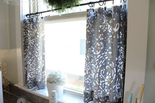 No Sew Cafe Curtains Home Decor Reupholster Window Treatments