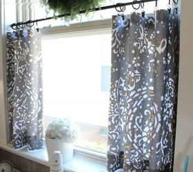 No Sew Cafe Curtains, Home Decor, Reupholster, Window Treatments