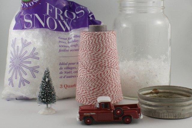 vintage jar snow globe, christmas decorations, crafts, repurposing upcycling, seasonal holiday decor, Gather the supplies
