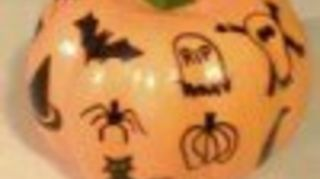 q tide pod, crafts, halloween decorations, repurpose household items, repurposing upcycling, I just marked on my pumpkin It s super easy and with a faux one this will last and last