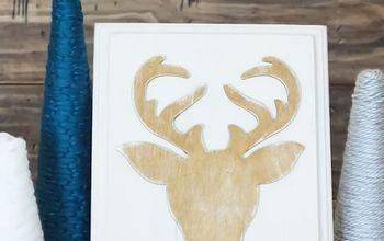 Rustic Gold Reindeer Decor