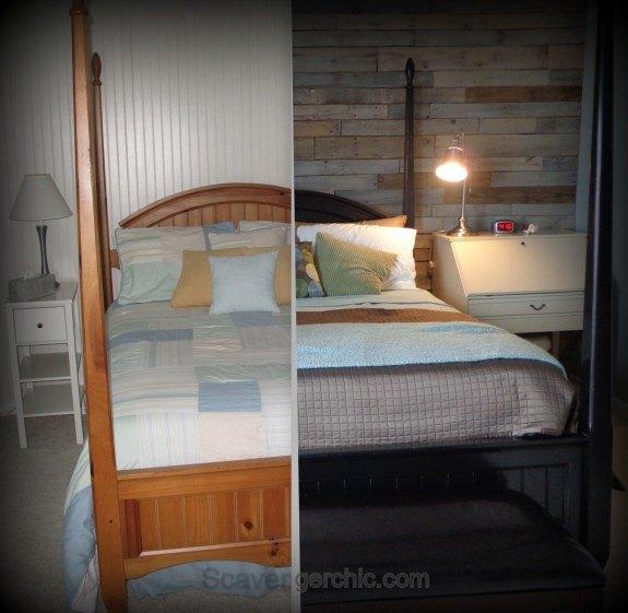Bedroom Colour Walls Bedroom Decor Rustic Master Bedroom Ideas Hgtv New Couple Bedroom Design: Warm And Rustic Pallet Wood Wall Diy