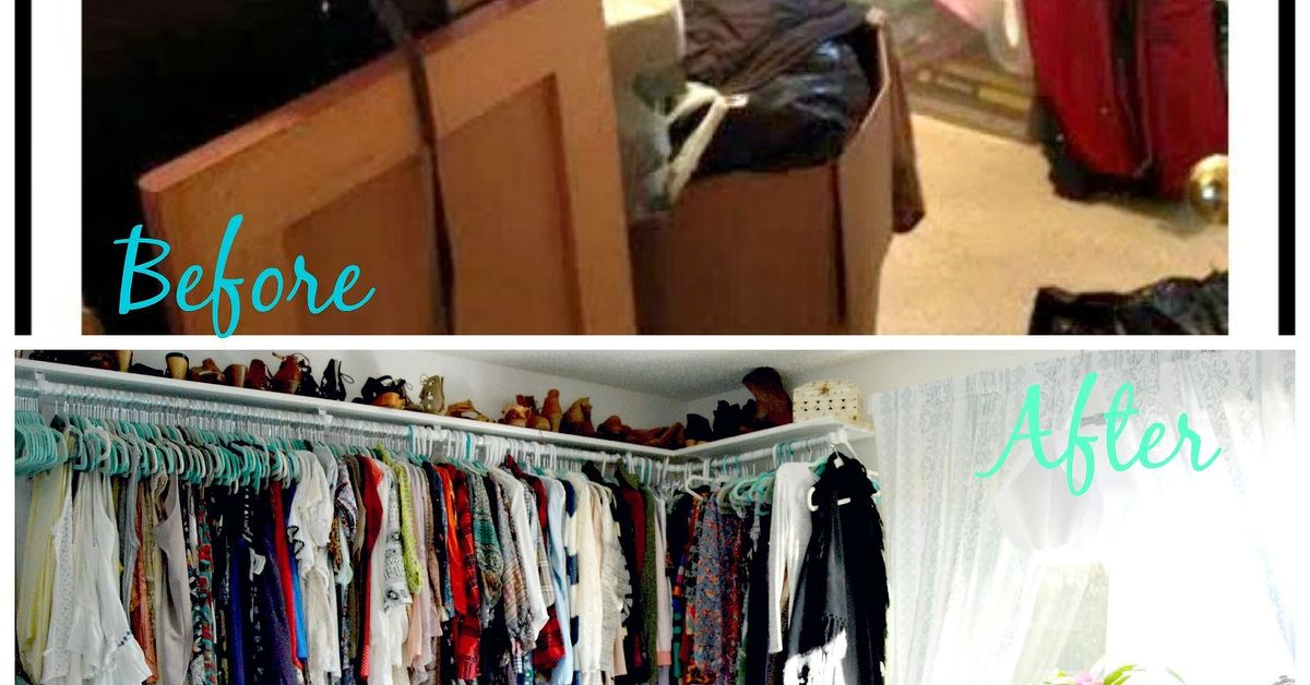 Before And After Spare Room Turned Closet On A Budget