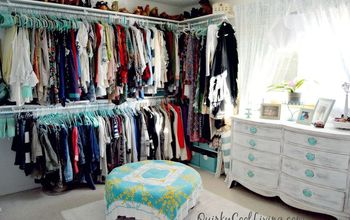 Before and After: Spare Room Turned Closet on a Budget.