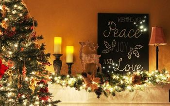 blogger inspired illuminated christmas wall art, christmas decorations, crafts, wall decor