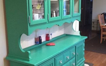 Circa 70's Pine Dining Room Hutch Gets a New Lease on Life
