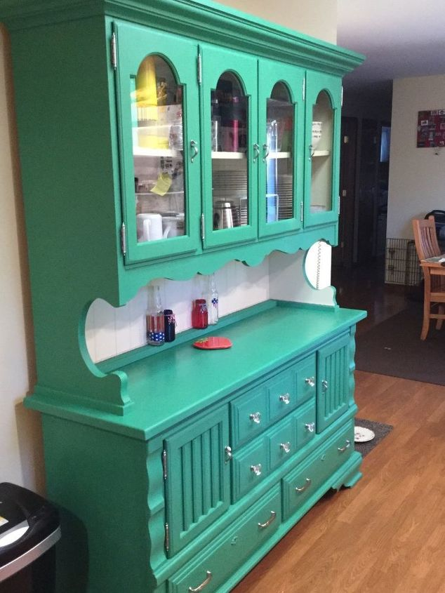 Circa 70\'s Pine Dining Room Hutch Gets a New Lease on Life   Hometalk