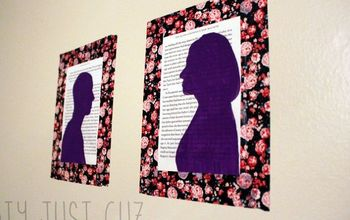 put your face in a book painted silhouettes on book pages, crafts