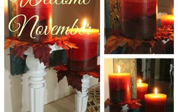 holding on to fall, chalkboard paint, crafts, fireplaces mantels, seasonal holiday decor