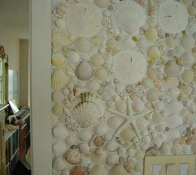 Shells And Pebbles Brighten Up A Bathroom, Bathroom Ideas, Wall Decor,  Shell Overload