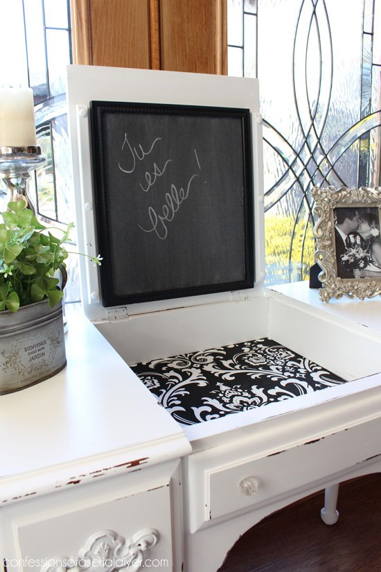 black and white dressing table  painted furniture. Black and White Dressing Table   Hometalk